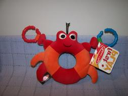 Melissa & Doug First Play Crab Grasping/Rattle Toy  For Baby