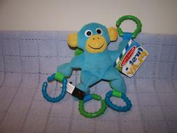Melissa & Doug First Play Monkey Grasping/Rattle Toy  For Ba