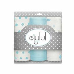 Lulujo Baby Mini Muslin Cotton Silky Soft Cloths, Brilliant