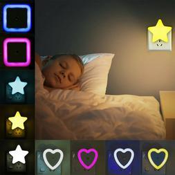 Mini Night Light LED Lamp Auto Sensor Nursery Bedroom Baby S