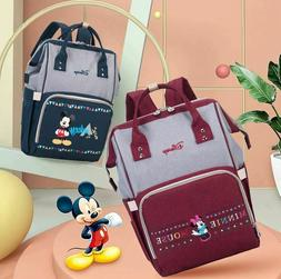 Mickey Disney Minnie Backpack Mouse Large Capacity Baby Diap
