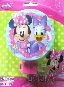 Disney MINNIE MOUSE DECORATIVE PLUG IN W BULB Night Light La