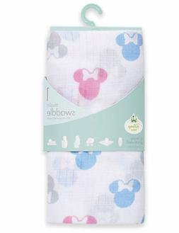 Minnie Mouse Muslin Swaddle Blanket NWT Motif Baby Girl Aden