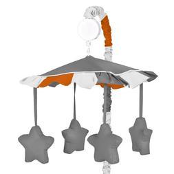 Sweet Jojo Designs Modern Gray and Orange Stripe Musical Bab