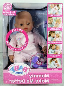 Baby Born Mommy Make Me Better Doll, Blue Eyes New In Box