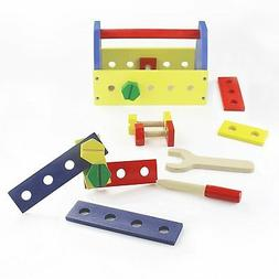 Montessori Tool Box Toy Set for Toddlers, Natural Wood, 14 c