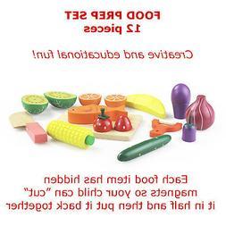 Montessori Wooden Food and Cutting Board Set Pre-Kindergarte