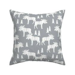 Moose Nursery Baby Nursery Throw Pillow Cover w Optional Ins