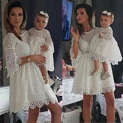Mother and Daughter Cloth Parent-child dress Family Outfit B