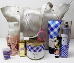 Bath & Body Works Mother's Day 2019 Tote W Gingham 3 Wick Ca