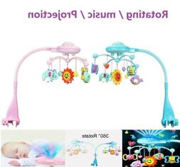 Musical Crib Mobile Toy Toddler Bed Bell Rattles Projection