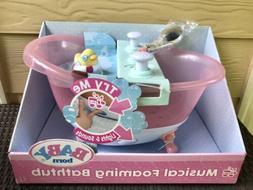 Baby Born Musical Foaming Bathtub Bath Tub Rubber Ducky Real