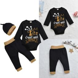 My 1st New Year Gift 3PCS Newborn Baby Boy Girl Romper Jumps