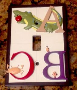 Kidsline My First ABC Light Switch Plate Cover Boy's Room Ju
