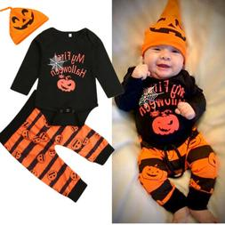 My First Halloween Newborn Baby Boy Girl Rompers Jumpsuit Pa
