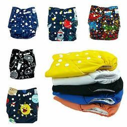 Nakie Baby 10 Pocket Cloth Diaper BOY SPACE SET Cute Washabl