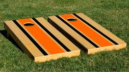 Natural Orange Stripes Boards With Bags Backyard And Beach P