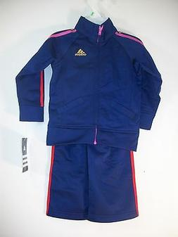 Adidas Navy Blue & Multi Color  Infant Girls 2 Piece Track S
