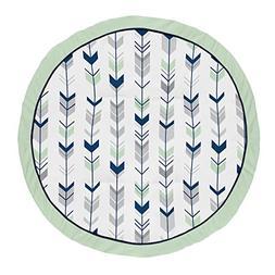 Sweet Jojo Designs Navy Blue, Mint and Grey Woodland Arrow P