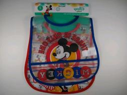 New Disney Baby Mickey Mouse Crumb Catcher Bibs Reusable Fre