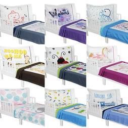 nEw 3pc ROOMCRAFT TODDLER BEDDING - Cute Nursery Minky Blank