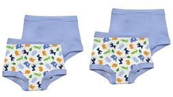 NEW 4 Pk Green Sprouts Boy's 3T Washable Potty Training Pant