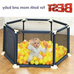 NEW 6-Panel Indoor Outdoor Kids Portable Baby Play Yard Safe
