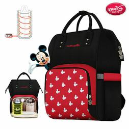 NEW Baby Disney Diaper Bag Backpack Bottle Insulation USB Mi