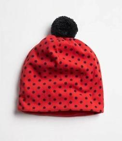 NEW Baby Gap Boys Girls Soft Fleece Red Navy Polka Dot Hat C
