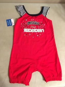 New Baby Girl's Outfit Size 18 Months Daddy's Little Fire Cr