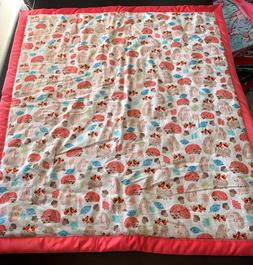 NEW Handmade Baby Quilt Double Flannel Filled Soft Cozy Warm