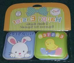 NEW Prestige Baby Boy 2-Pack Bath Books~Babys 1st Easter Bas