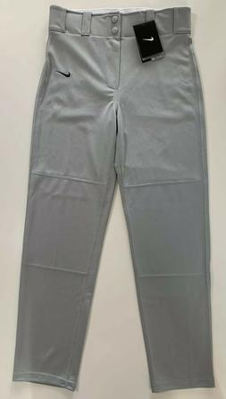 New Nike Boys Straight Leg Baseball Pants 615283 052 Gray Yo