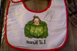NEW! CUTE,BABY,Infant,BIB,LIL' Kraut.cute Baby Bib,Cloth.Eur