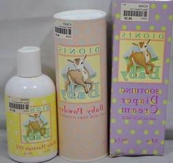 NEW Dionis Diaper Cream Powder Baby Massage Oil with Goats M