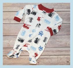 "NEW ~ ""Fire Truck"" Baby Boy Preemie Outfit / Reborn Sleeper"