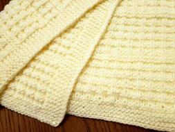 New handmade natural cream color 26x30in unisex baby blanket