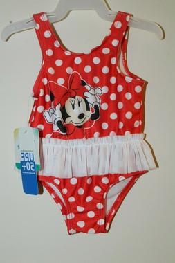 NEW Disney Baby Infant Girl's One Piece Bathing Suit Tutu Sw