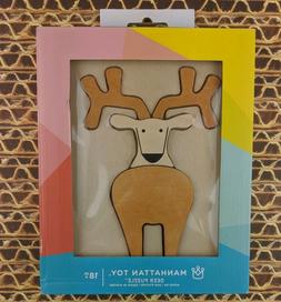 NEW Manhattan Wooden Deer Puzzle Stacking and Sorting Baby T