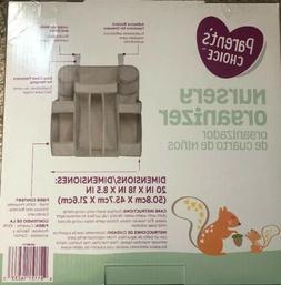 NEW Parent's Choice Baby Nursery Organizer Diaper Clothes Ha