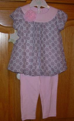 NEW NURSERY RHYME PLAY BABY GIRL 2-PC TOP & PANTS SIZE 12M N
