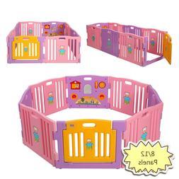 Baby Playpen Kids 8/12 Panels Safety Panel Play Center Yard