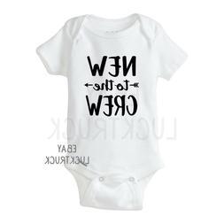 New to the Crew Custom Baby Onesie Bodysuit Unisex Funny Sho