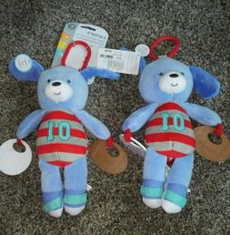 NEW! Twin Baby Toys Plush Puppy Developmental Sports Theme B