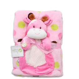 Baby Gear Newborn 2pcs Girl Squeaky Cow Security Blanket Dol