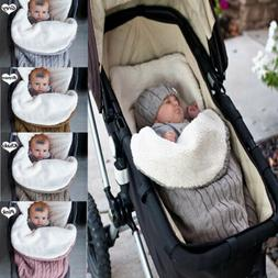 Newborn Baby Blanket Knit Crochet Swaddle Sleeping Bag Strol