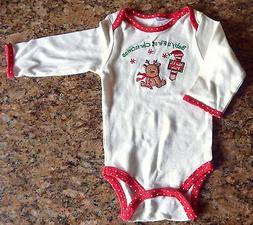 Newborn Baby First Christmas Unisex 3 Months Pajama Romper S
