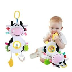 Newborn Baby Fun Ring Bell Crib Doll Baby Carriage Plush Toy
