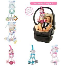Newborn Baby Infant Rattles Plush Animal Stroller Hanging Be