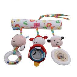 Newborn Baby Plush Crib Bed Toys Toddler Stroller Tinkle Rat